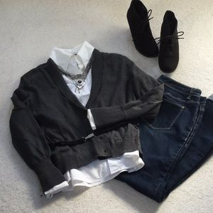 NWT long sleeved gray cardigan